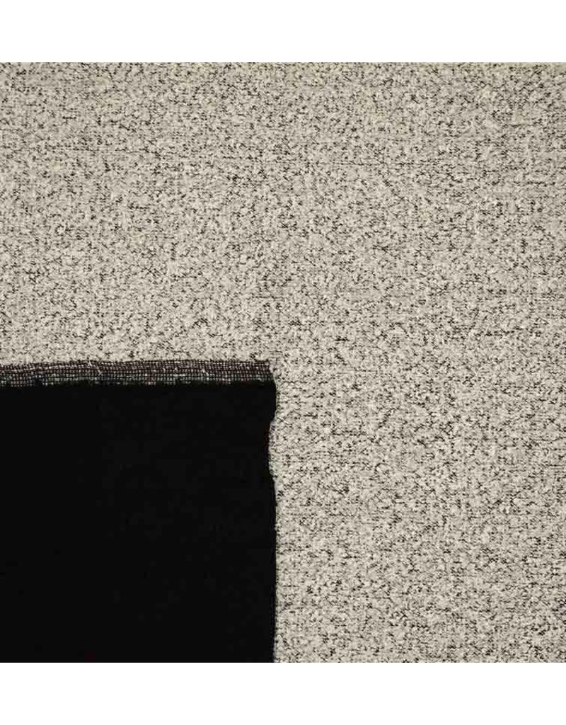 Double Face Bouclé BB15 - clair gris / noir
