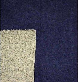 Double Face Bouclé BB12 - marineblauw / grijs