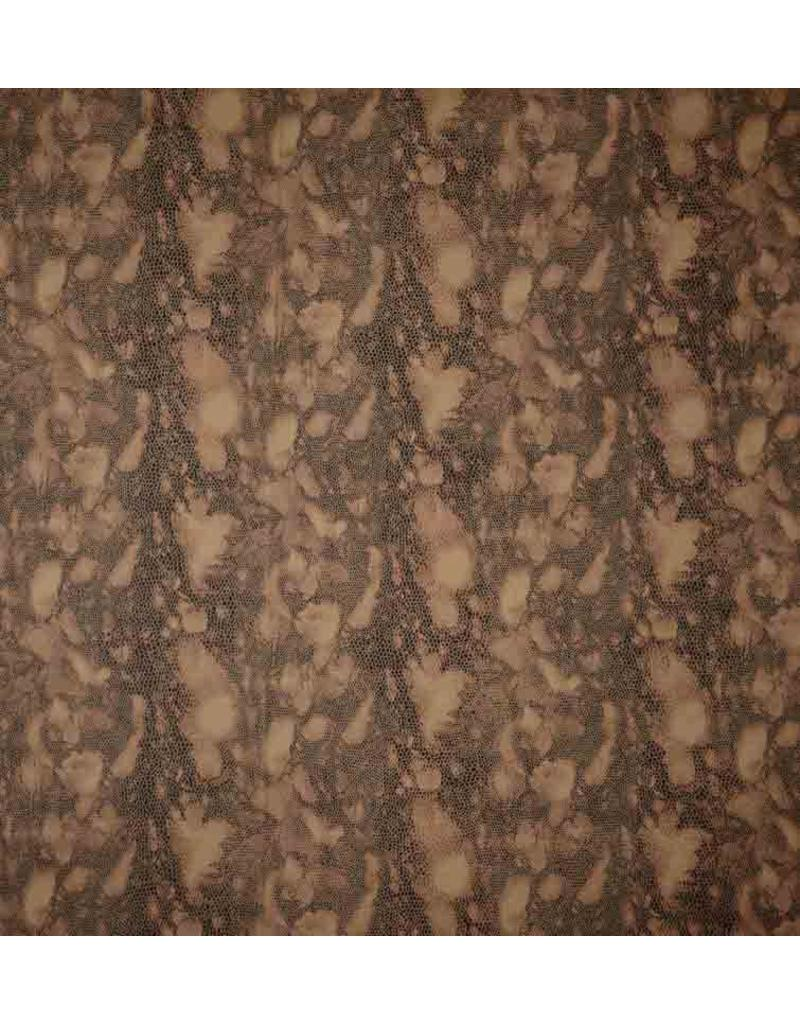 Similicuir Snake IL103 - brun