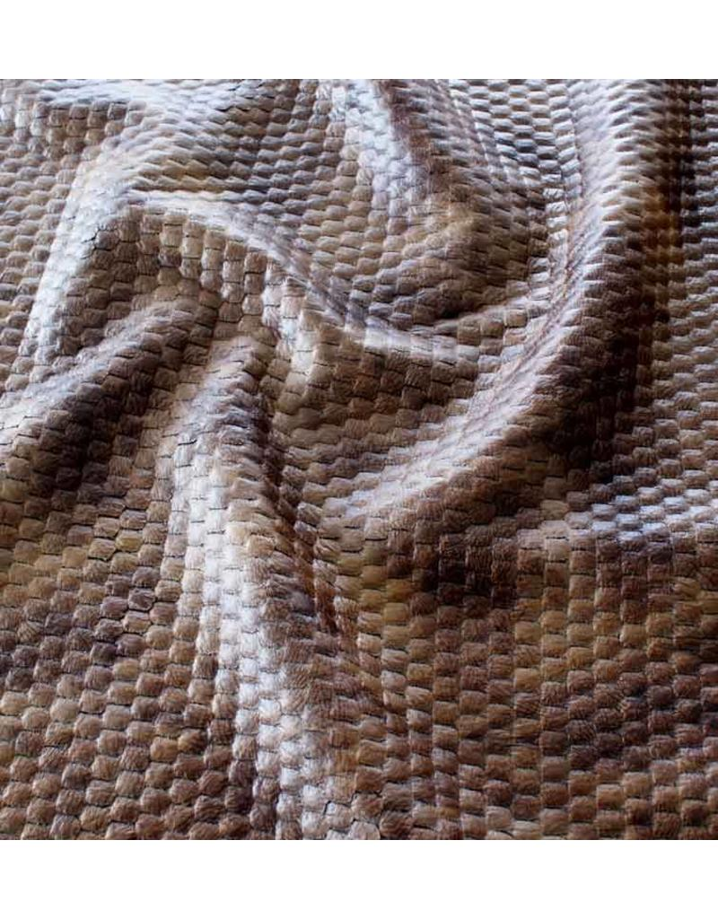 Lederimitat Snake IL101 - dunkelbraun