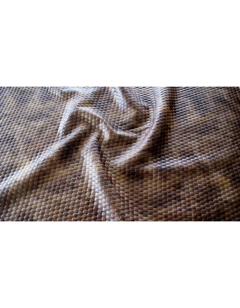 Similicuir Snake IL101 - brun foncé