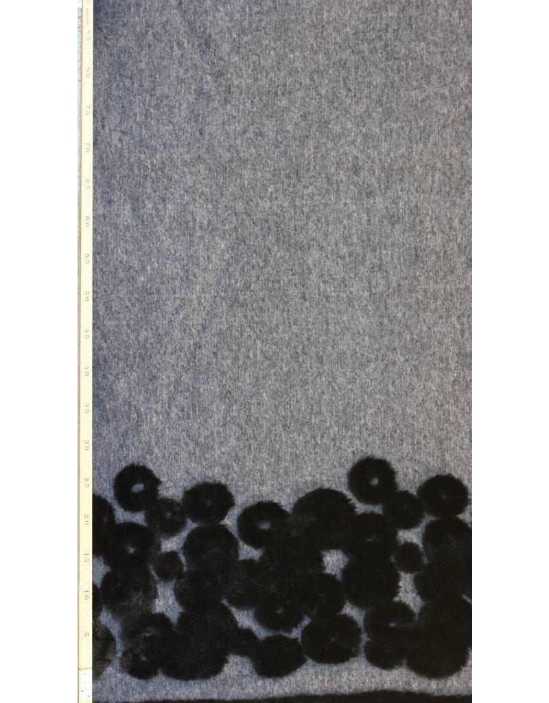 Gekookte Wol W48 - grijs / zwart