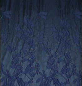 Jacquard 897 - donkerblauw / zwart