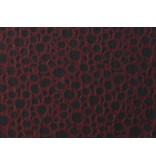 Jacquard 1070 - dark red / black
