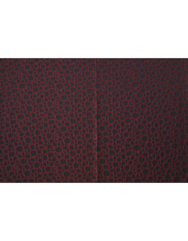 Jacquard 1070 - rouge foncé / noir