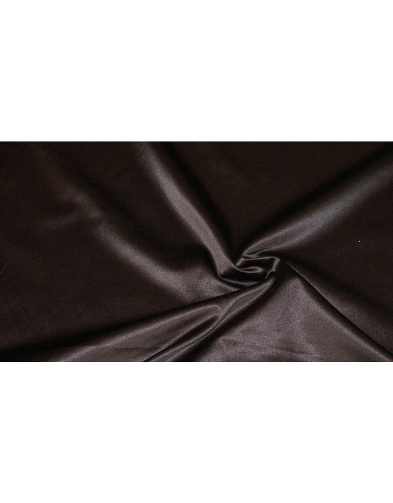 Glanz Baumwolle Uni S8 - schokoladenbraun