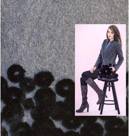 Laine Bouillie W48 - gris / noir