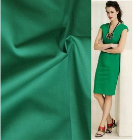 Katoen Satijn Uni 0020 - smaragd groen OP