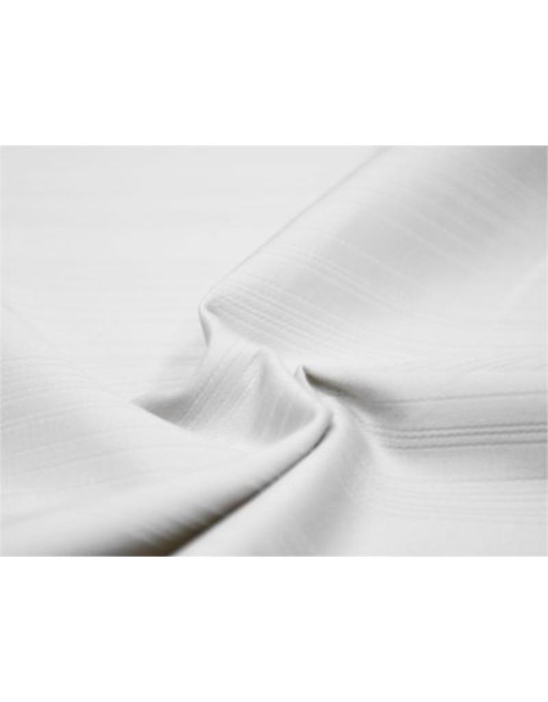 Katoen Satijn Uni Streep 0060 - wit