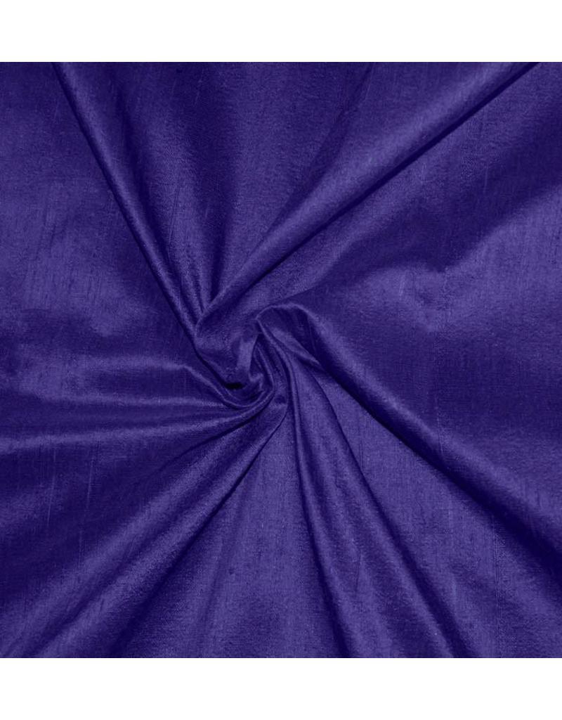 Dupion Zijde D35 - donker kobaltblauw