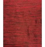Soie de Dupion D36 - rouge foncé avec noir