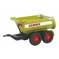 Rolly Toys Claas Traptractor Aanhanger Halfpipe