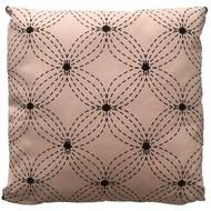 Sierkussen Flower Roze met zwart patroon