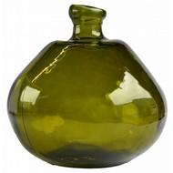 Mams collection Vintage Glazen Groene Vaas 'Figura aliena' medium