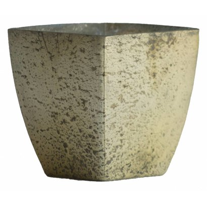 Waxinelichthouder WXLH Vintage Goud - Square