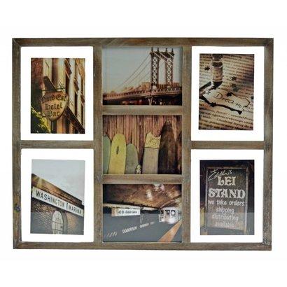 Fotolijst 'Frame' met ruimte voor 7 foto's
