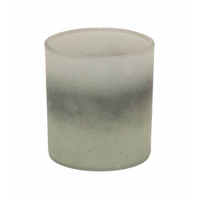 Waxinelichthouder van glas in 'Frosted' look - Klein