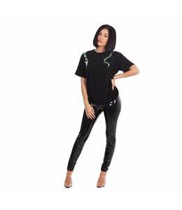La sisters Snake Tee Shirt Black