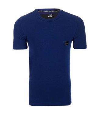 Love Moschino T-shirt blue - zilver embleem