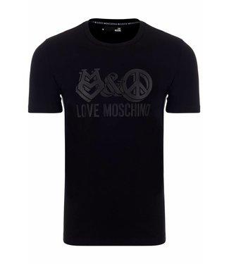 Love Moschino T-shirt slim fit black-black