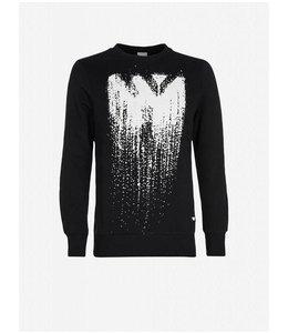 Pure White Gradient Sweater Black