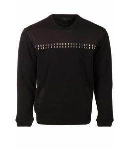 Explicit Stitch Black Sweater