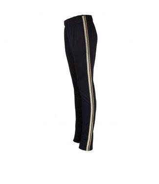 Radical Trackpants Women Black / Gold Stripe