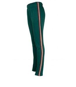 Radicalfash Trackpants Women Green Bordeaux / Gold Stripe