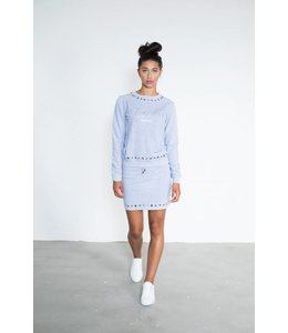 Jacky Luxury Skirt Whit Eyelet