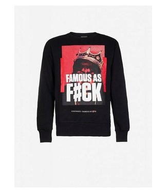 Pure White Famous As F#ck Sweater Black