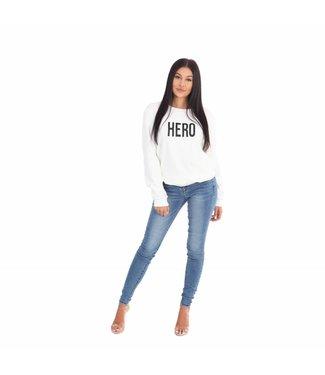 La sisters Sweater Hero White
