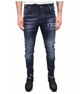 My Brand Spotted Jeans Blue
