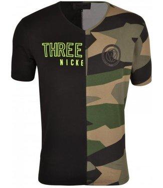 Nickelson Rand T-Shirt Zwart
