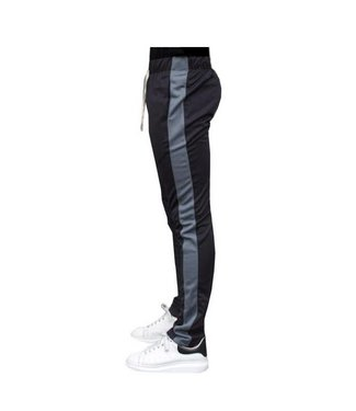 Radical Trackpants Black D-Grey Stripe