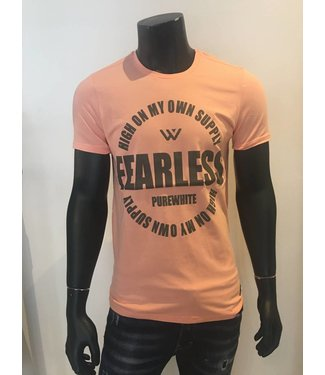 Pure White Shirt Fearless Coral
