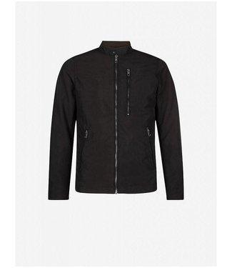 Pure White Full Zip Jacket Black