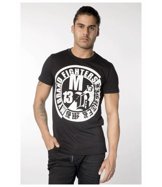 My Brand FIGHTERS LOGO BLACK/WHITE T-SHIRT