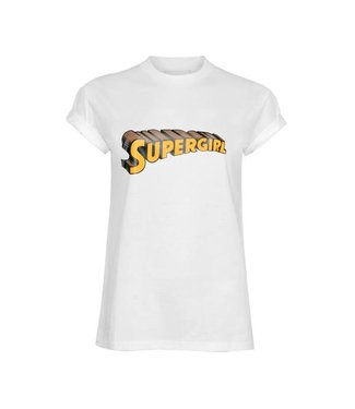 La sisters Supergirl Tee White