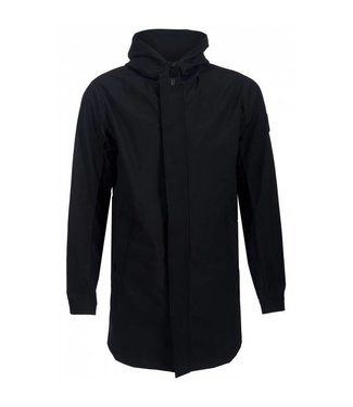 Airforce Tecnical Shell Jacket Hooded Long Black
