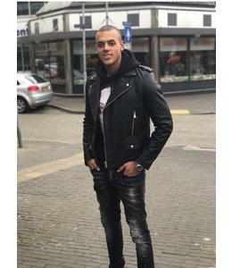 Explicit Ace Leather Jacket Black