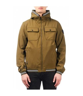 Airforce Softshell Jacket Chest Pocket Tape Olive Green