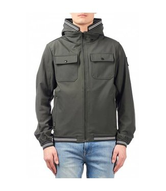 Airforce Softshell Jacket Chest Pocket Tape Metal Grey