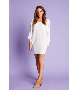 Jacky Luxury Top Knit Flared Sleeves White