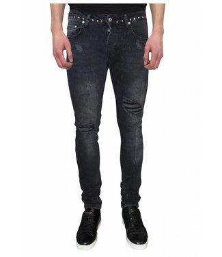 My Brand Jack 042 Studs Destroyed  Jeans Black