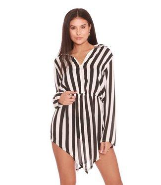 La sisters Striped Shirt Dress