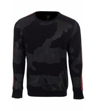 Conflict Camo Sweater Black Zwart