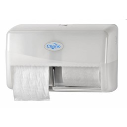 Pearl-Line Dubbele Toiletrolhouder (Pearl-White)