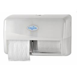 Pearl-Line Coreless Duo Toiletrol Dispenser (Pearl White)
