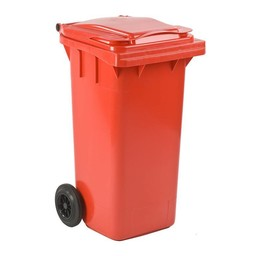 Vepabins Kliko / Mini Rolcontainer 120ltr Rood