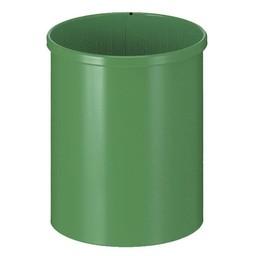 Vepabins Ronde Metalen Papierbak Groen (15ltr)